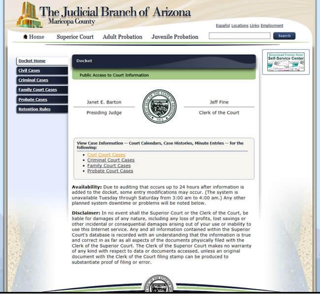 Maricopa County court records - Criminal Data Check - Find