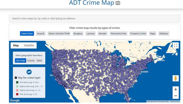 how to find crimes in your area